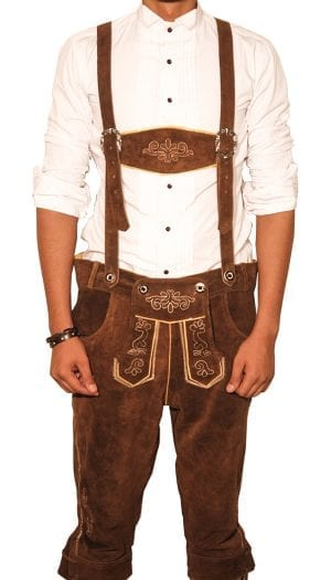 Bundhosen Knee Length Trousers Staggering Brown