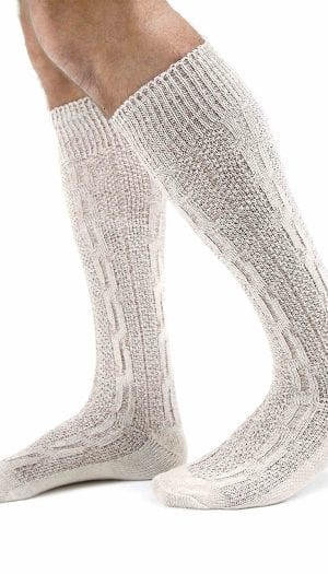 Oktoberfest Bavarian Socks White