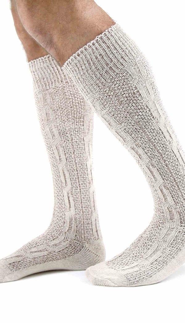 Oktoberfest Bavarian Socks White