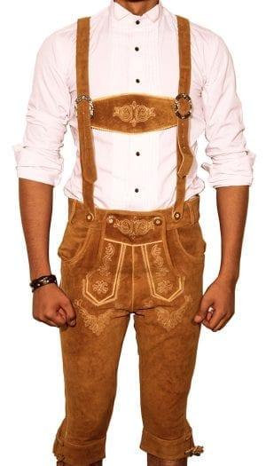 Bundhosen Knee Long trousers Camel Brown
