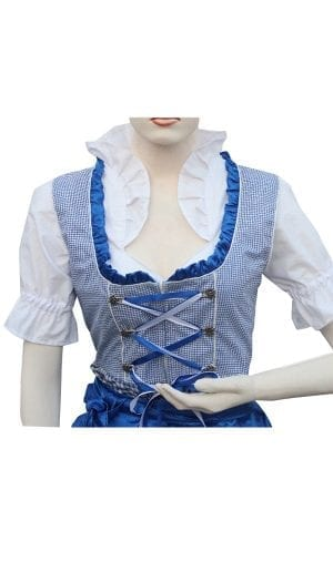 Dirndl Set White & Blue Embroidery Classic