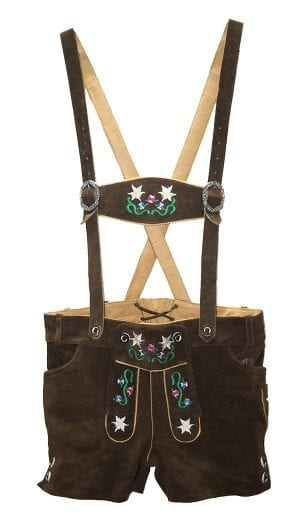 Floral Women's German Lederhosen Embroidered
