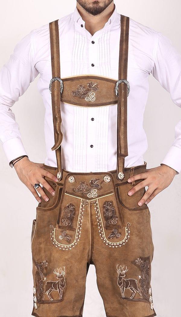 Trachten Short Lederhosen Real Shaded Brown 1