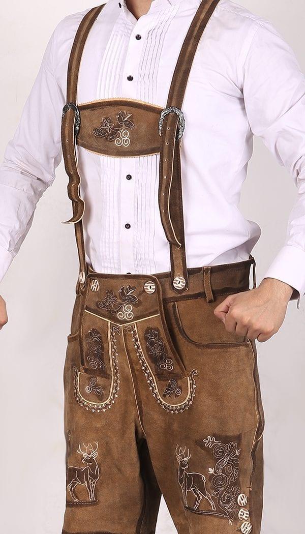 Trachten Short Lederhosen Real Shaded Brown 2