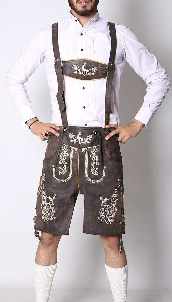 Trachten Short Lederhosen Wild Brown 1